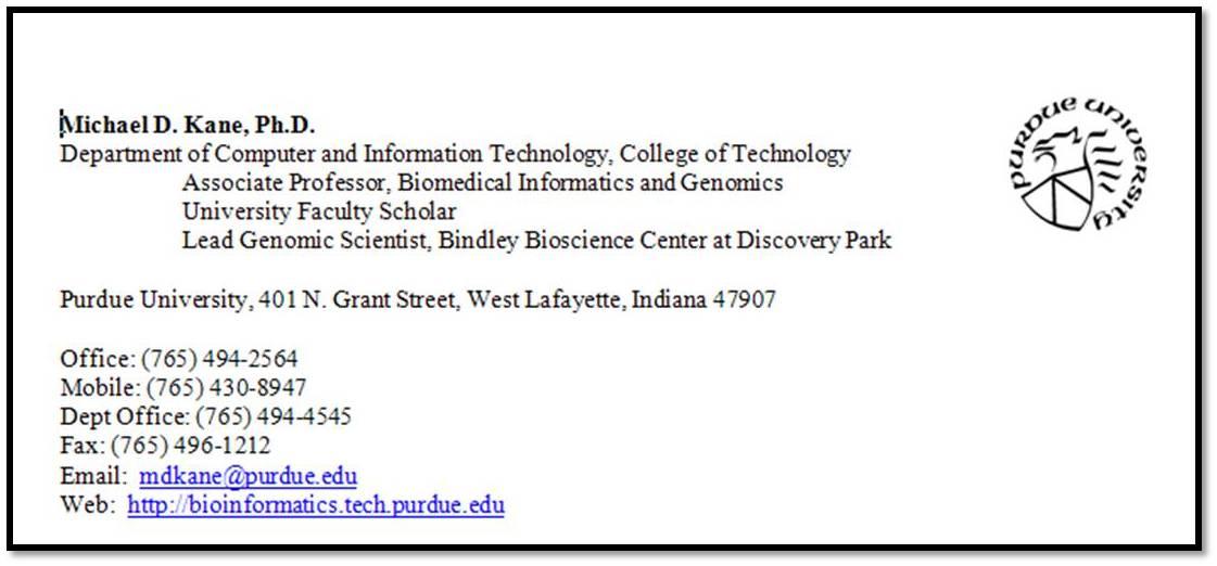 Michael Kane PhD - Genomics & Bioinformatics at Purdue